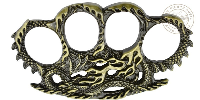 MAX KNIVES - Poing américain le Dragon-Serpent