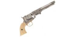 Réplique inerte du revolver Colt Navy 1851 gravé