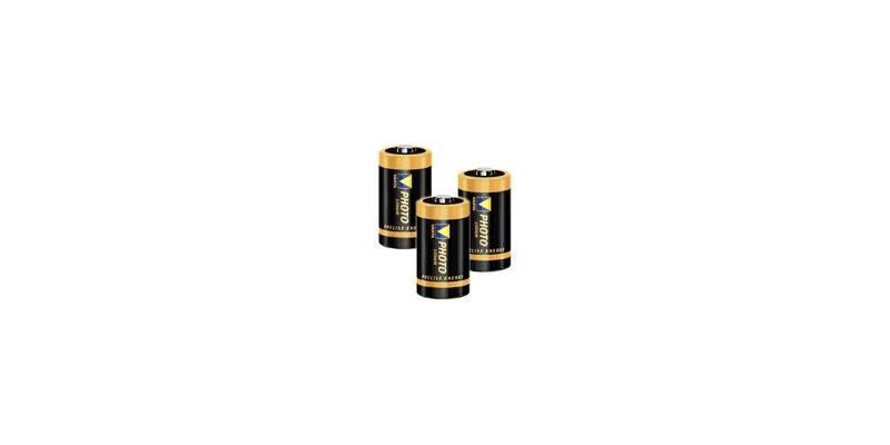 Set of 3 lithium batteries CR2 3V