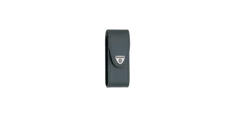 VICTORINOX leather sheath - Large size (111 mm) - Black