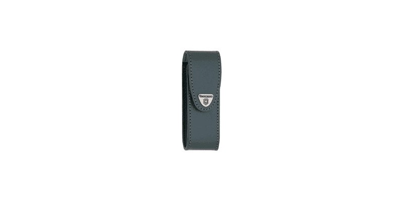 VICTORINOX leather sheath - Small size (111mm) - Black