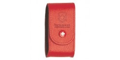 VICTORINOX leather sheath - Large size - Red