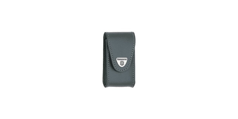 VICTORINOX leather sheath - Large size - Black