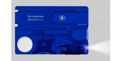 Couteau VICTORINOX - SwissCard Lite bleu translucide 8p