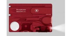 VICTORINOX knife - SwissCard Lite translucent red 8p