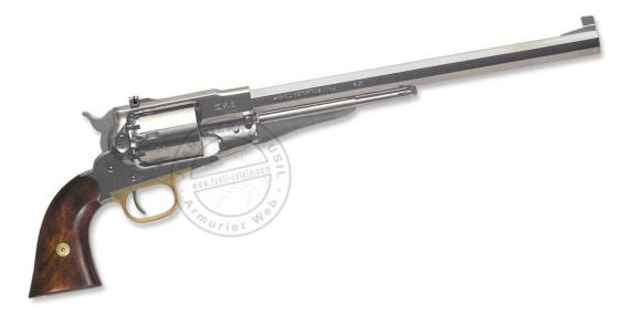 Revolver PIETTA Remington 1858 'Buffalo' Texas nickelé Cal. 44 - Canon 12''