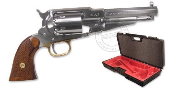 Revolver PIETTA Remington 1858 Inox Cal. 44 - lined stock + case - Barrel 5.5''