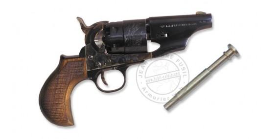 Revolver PIETTA Army Sheriff's Snubnose 1860 Cal. 44 - crosse arrondie quadrillée - Canon 3''