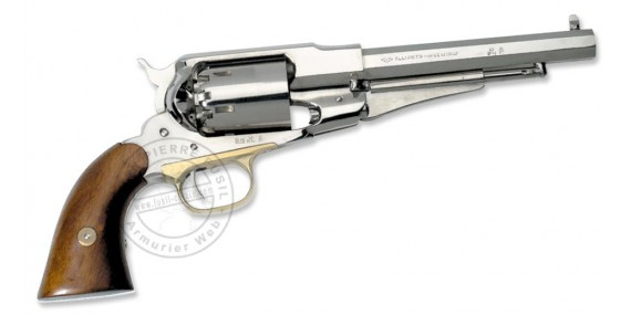 Revolver PIETTA Remington 1858 Texas nickel plated - Cal. 44 - Barrel''
