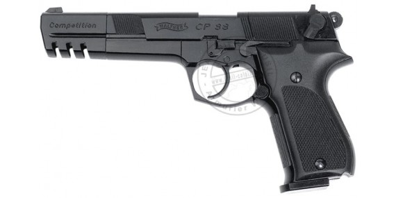 Pistolet à plomb CO2 4.5 mm WALTHER CP88 Competition 6'' Noir (4 joules)