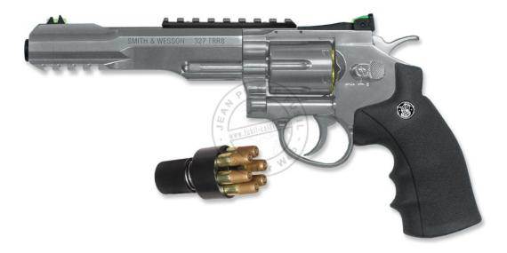 Revolver 4,5mm CO2 UMAREX - Smith & Wesson 327 TRR8 - Nickelé (2,75 joules)