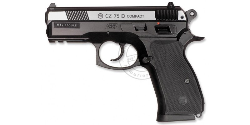 Pistolet 4,5 mm CO2 ASG CZ 75D Compact - Bicolore (2,7 joules)