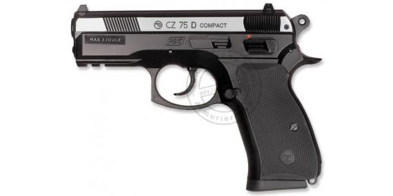 Pistolet à plomb CO2 4.5 mm ASG CZ 75D Compact - Bicolore (2.7 joules)