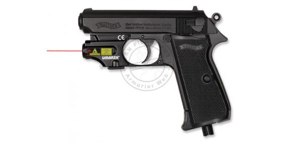 Pistolet CO2 4,5 mm WALTHER - PPK/S + laser (1,5 joules)