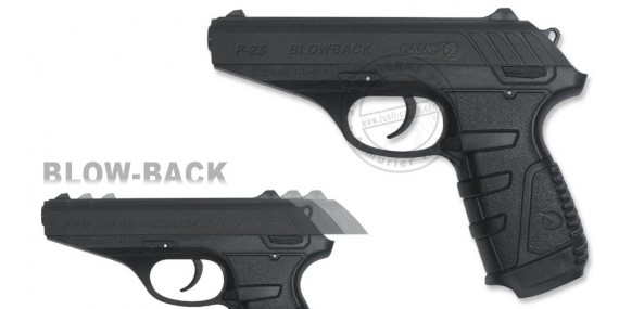 GAMO P-25 Blowback CO2 pistol - .177 rifle bore (3,98 joules)