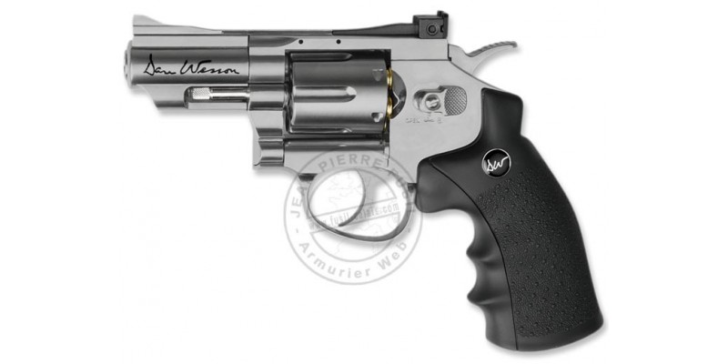 Revolver 4,5 mm CO2 ASG Dan Wesson 2,5'' - Nickelé (1,7 joules)