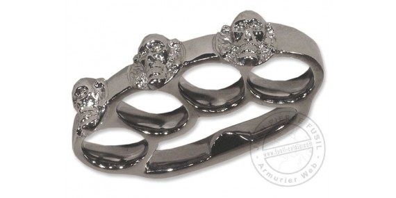 Skull & crossbones Knuckle-duster - Bronze