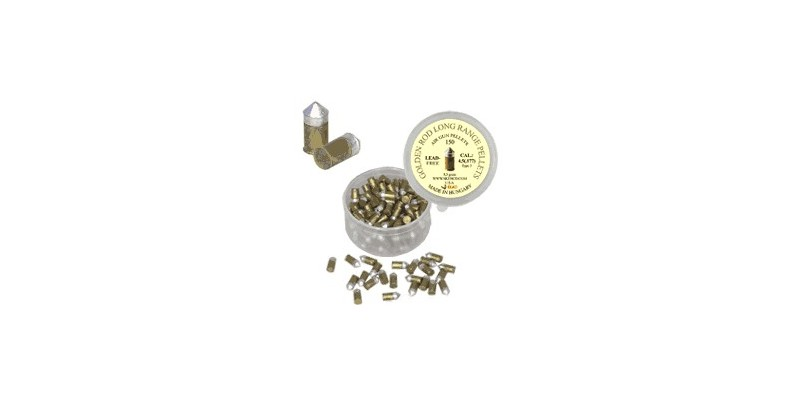 Conical metal pellets (golden) - .177 - x150