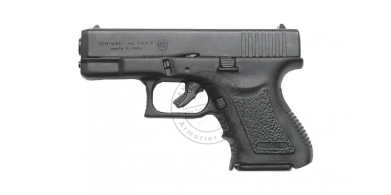 Pistolet alarme BRUNI Mini GAP noir Cal. 9mm - Copie Glock 26