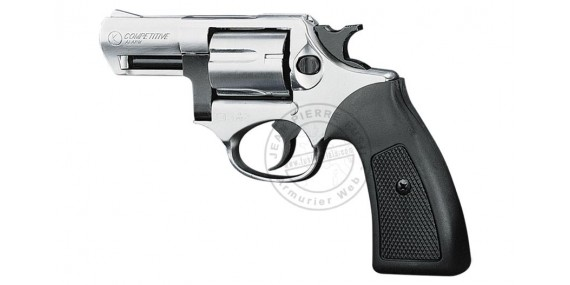 KIMAR Kruger blank firing revolver - Nickel - 9mm blank bore