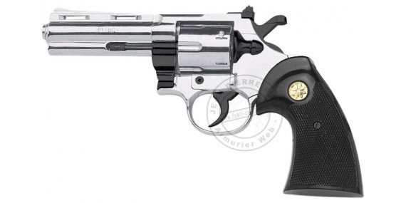 KIMAR PYTHON blank firing revolver - Nickel - 9mm blank bore