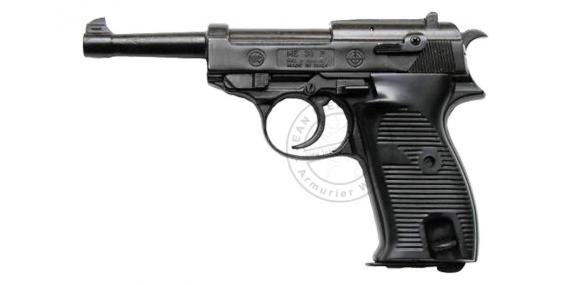 BRUNI P38 blank firing pistol - Black - 8mm blank bore