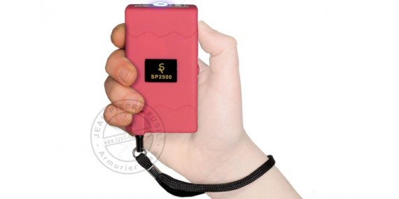 Stun gun TIGER STUN 2 500 000 V with led - Pink