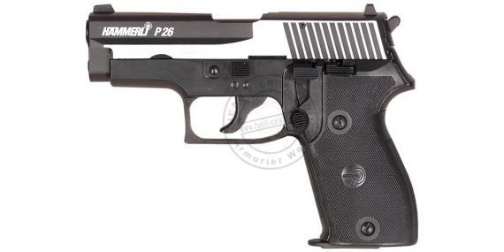 UMAREX HAMMERLI P26 Dark Ops blank firing pistol - 9mm blank bore