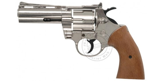 BRUNI PYTHON blank firing revolver - Nickel plated - 9mm blank bore