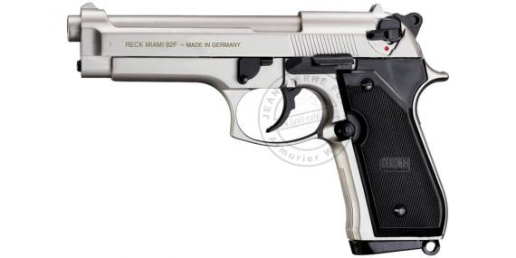 UMAREX RECK Miami 92F blank firing pistol - Nickel plated - 9mm blank bore