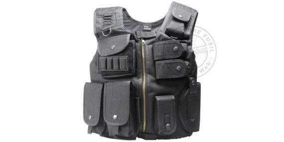 Gilet Tactique Soft Air - ASG Strike Systems Swat - Noir