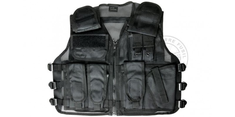 Gilet Tactique Soft Air - ASG Strike Systems Recon - Noir