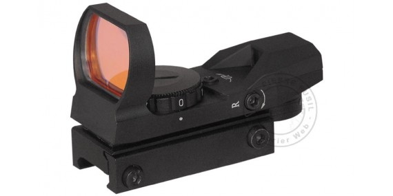 Electronic multi-reticule red dot sight
