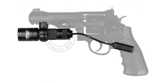 Kit WALTHER Tactical xenon torch - Black + Weaver mount + switch