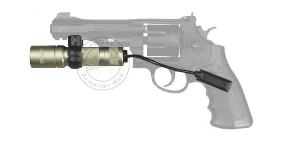 Kit WALTHER Tactical xenon torch - Titanium + Weaver mount + switch