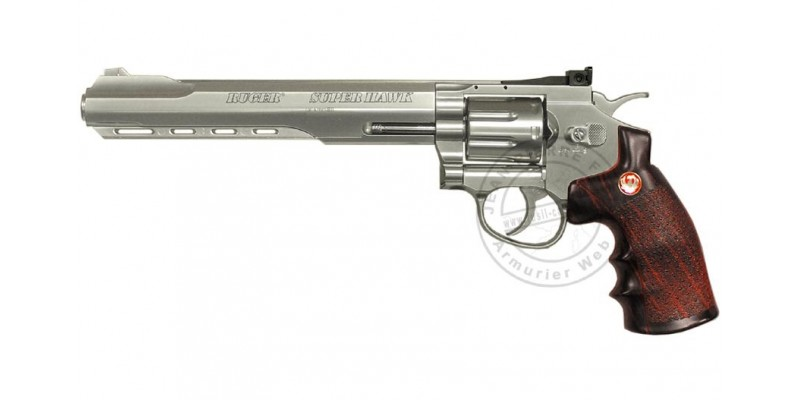 Revolver Soft Air CO2 UMAREX RUGER Super Hawk - Nickelé