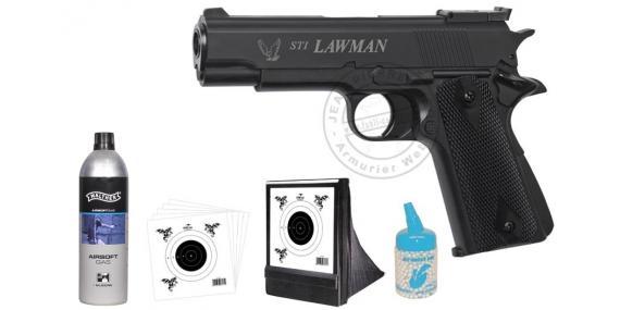 ASG STI Lawman GAS Air Soft pistol pack - PROMO