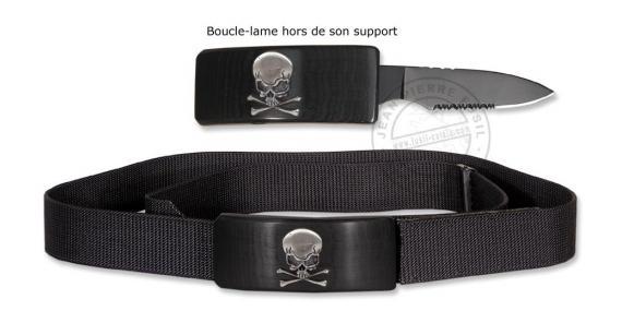Couteau de ceinture - Tête de mort - lame 6 cm