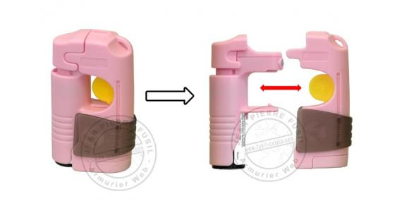 Appareil d'alarme TORNADO Defence System - Alarme + Spray - Rose