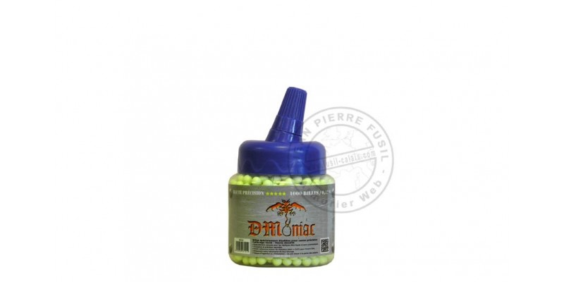 Biberon 1000 billes Soft Air jaunes - 0.12g