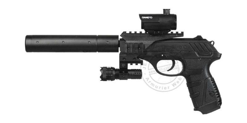 Pistolet 4,5 mm CO2 GAMO P-25 Blowback - TACTICAL (3,98 joules)