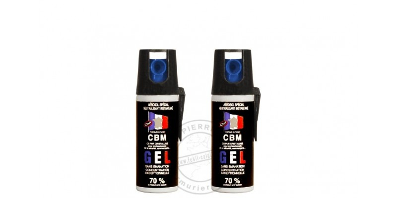 Lot de 2 bombes de défense 50ml Gel CS - PROMOTION
