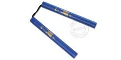 Nunchaku mousse corde- Bruce Lee - Bleu