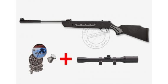 Carabine 4,5 mm HATSAN Mod. 1000S Striker - Gris (9,19 joules) - + Lunette 4x20 + plombs- PROMO
