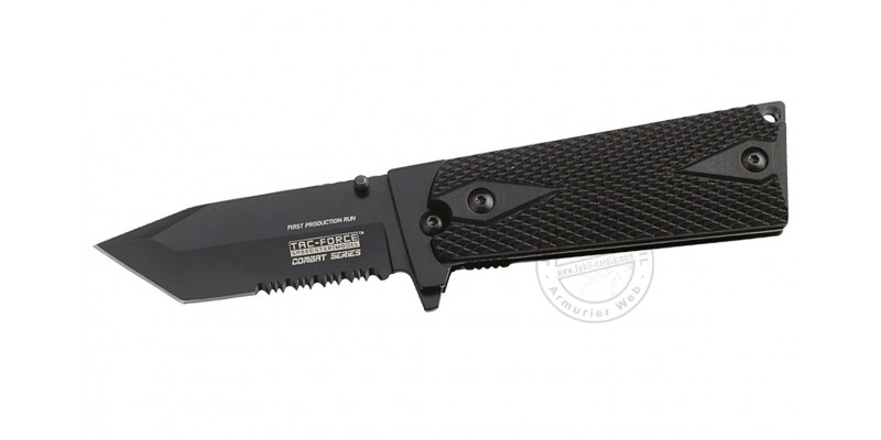 TAC FORCE knife - Combat Series - Black tanto blade - Black grip