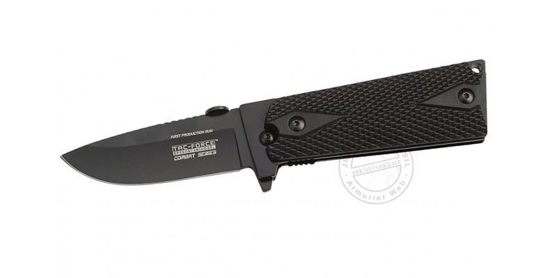 TAC FORCE knife - Combat Series - Black blade - Black grip