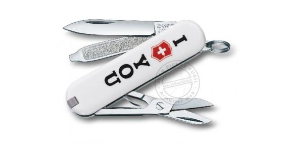 "Couteau VICTORINOX - The Gift ""I love you"" - Classic 6p - White"
