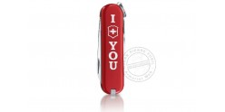 Couteau VICTORINOX - The Gift I love you - Classic 6p - Rouge