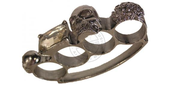 Skull & Crossbones and brilliant Knuckle Duster - Grey