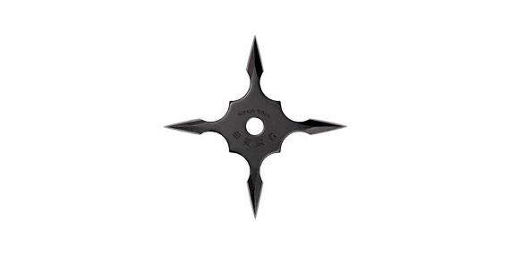 Shuriken Kohga Ninja - 4 branches fines - Noir